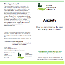 Anxiety Leaflet