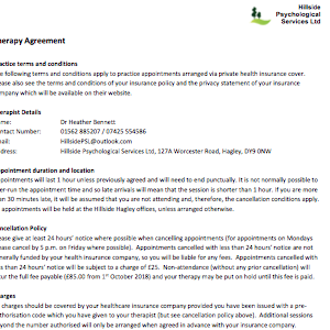 Therapy Agreement